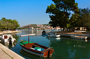 Green Bay Prints - Waterfront view of Trogir in Croatia Print by Kiril Stanchev