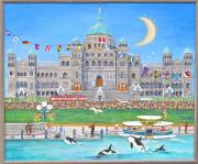 Victoria Paintings - Waterfront Welcome by Virginia Ann Hemingson