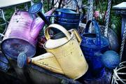 Old Pitcher Prints - Watering Cans Print by James David Phenicie