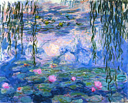 Jardins Paintings - WaterLilies 1919  by Claude Monet