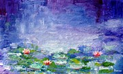 Waterlilies Mixed Media Posters - Waterlilies Poster by Venus