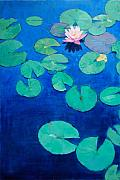 Patrick Paintings - Waterlilly by Patrick Saunders