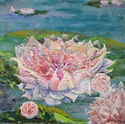 Graceful Lotus Posters - Waterlily Poster by Regina Valluzzi