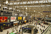 Waterloo Prints - Waterloo Station London Print by David French