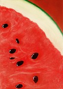 Closeup Pastels Prints - Watermelon Print by Anastasiya Malakhova