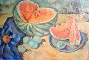 Watermelon Pastels Originals - Watermelon by Andrey Volkov