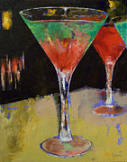 Michael Painting Posters - Watermelon Martini Poster by Michael Creese