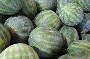 Farmstand Metal Prints - Watermelons Metal Print by Bradford Martin