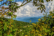 Mountains Prints - Waterrock Knob on the Blue Ridge Parkway Print by John Haldane