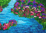 Floral Tapestries - Textiles - Waterway by Jean Baardsen