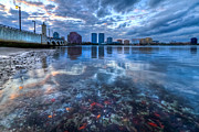 Skyscapers Prints - Watery Treasure Print by Debra and Dave Vanderlaan
