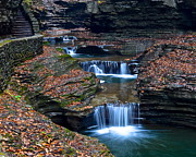 Ebb And Flow Prints - Watkins Glen Cascade Print by Robert Harmon