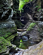 New York Vista Posters - Watkins Glen Gorge Trail Poster by Robert Harmon