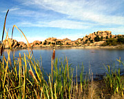 Watson Lake Arizona Print by Kurt Van Wagner