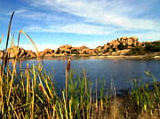 Prescott Digital Art Prints - Watson Lake Print by Kurt Van Wagner