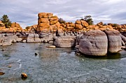 Watson Lake Rocks Print by Jag Fergus