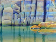 Watercolor  Paintings - Watson Rocks by Robert Hooper