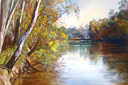 Water Pastels - Wattle Time Goulburn River by Lynda Robinson