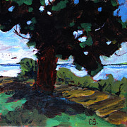 Beach Scene Painting Originals - Waukegan State Park by Charlie Spear
