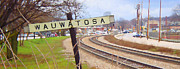 Wauwatosa Framed Prints - Wauwatosa Railroad Sign 2 Framed Print by Geoff Strehlow