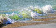 Wave Photos - Wave  by Betsy A Cutler East Coast Barrier Islands