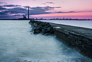 Quayside Prints - Wave Breaker Pier Print by Semmick Photo