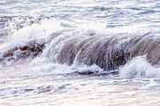 Wave Metal Prints - Wave in stormy ocean Metal Print by Elena Elisseeva