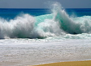 Sandy Photo Posters - Wave Poster by Karon Melillo DeVega