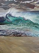 Liquid Painting Prints - Wave No.1 Print by Kimberly VanDenBerg