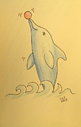 Wave The Suzuki Dolphin Print by Sheri Lauren Schmidt
