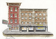 Greenwich Village Paintings - Wavery Diner in Greenwich Village by Lynn Lieberman