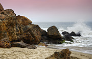 Surf Art Print Prints - Waves At Point Dume Print by Ricky Barnard