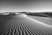 Black And White Mountain Prints Framed Prints - Waves in the distance Framed Print by Jon Glaser