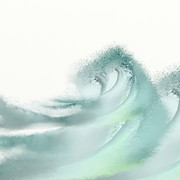 Quick Mixed Media Posters - Waves Poster by Len YewHeng