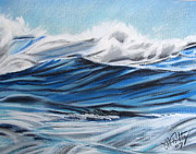 Water Pastels - Waves by Michael Foltz