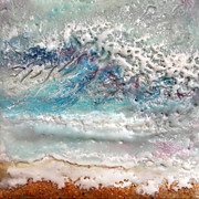 Crashing Waves Paintings - Waves No. 1 by Victoria Primicias