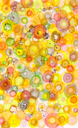 Circles Drawings Framed Prints - Waves of Juicy Framed Print by Regina Valluzzi