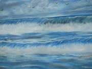 Sea Birds Pastels - Waves of Strength by Nicole Poston