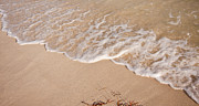 Summer Travel Prints - Waves on the beach Print by Adam Romanowicz
