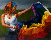 Pride Paintings - Waving Pride by Joelle Circe