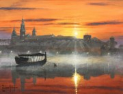 Krakow Prints - Wawel Sunrise Krakow Print by Richard Harpum