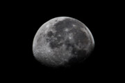 Moonlit Night Photo Prints - Waxing Moon Print by Nila Newsom
