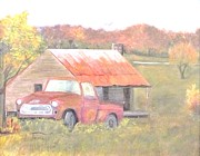 Autumn In The Country Prints - Way Back Home Print by David Earl Tucker