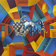 Chess Paintings - Way Down In The Hole by Kelly Jade King