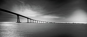 Bay Bridge Photos - Way Over the Bay by Ryan Hartson-Weddle