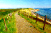 Sand Dunes Paintings - Way to the beach by Stefan Kuhn