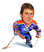 Caricature Painting Framed Prints - Wayne Gretzky Framed Print by Art
