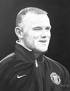 Wayne Rooney Framed Prints - Wayne Rooney Framed Print by Stephen Rea