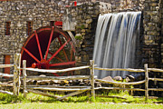 """wayside Grist Mill"" Framed Prints - Wayside Grist Mill 4 Framed Print by Dennis Coates"