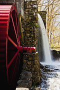 Sudbury Ma Photo Posters - Wayside Grist Mill Poster by Dennis Coates
